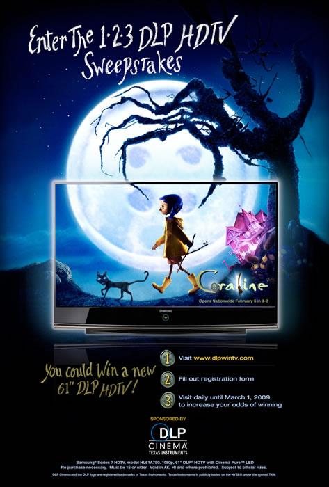 Garza Creative Group Ti Dlp Cinema Coraline Poster
