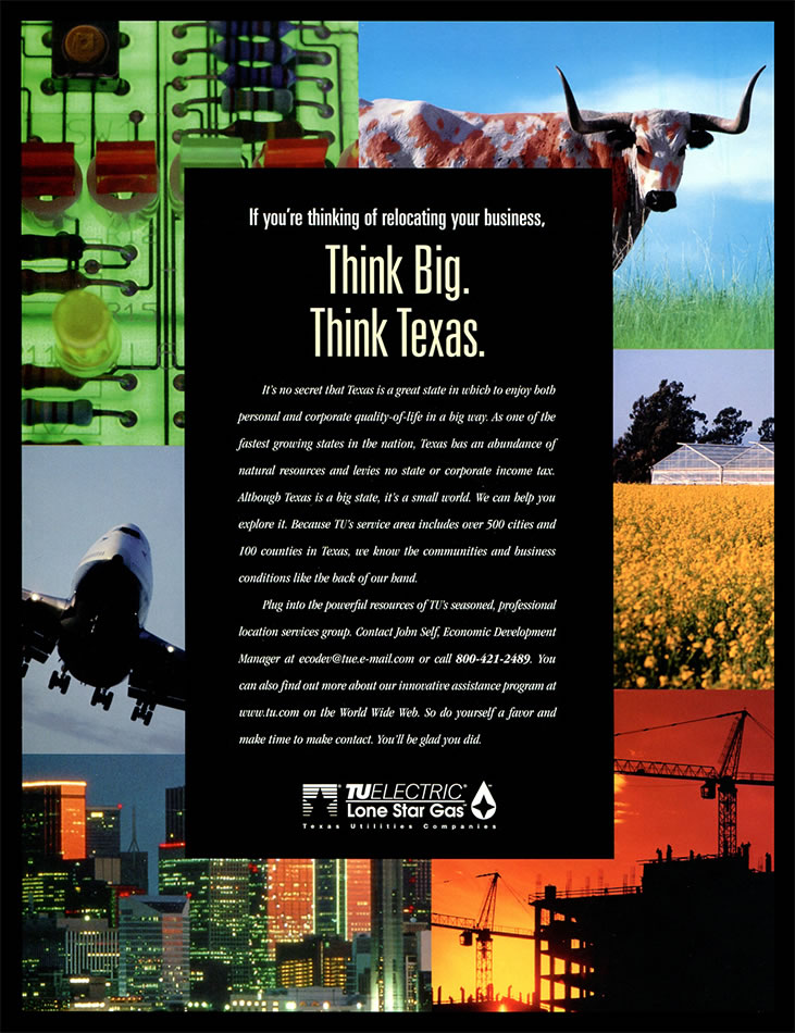 Garza Creative Group Tu Think Big Think Texas Ad